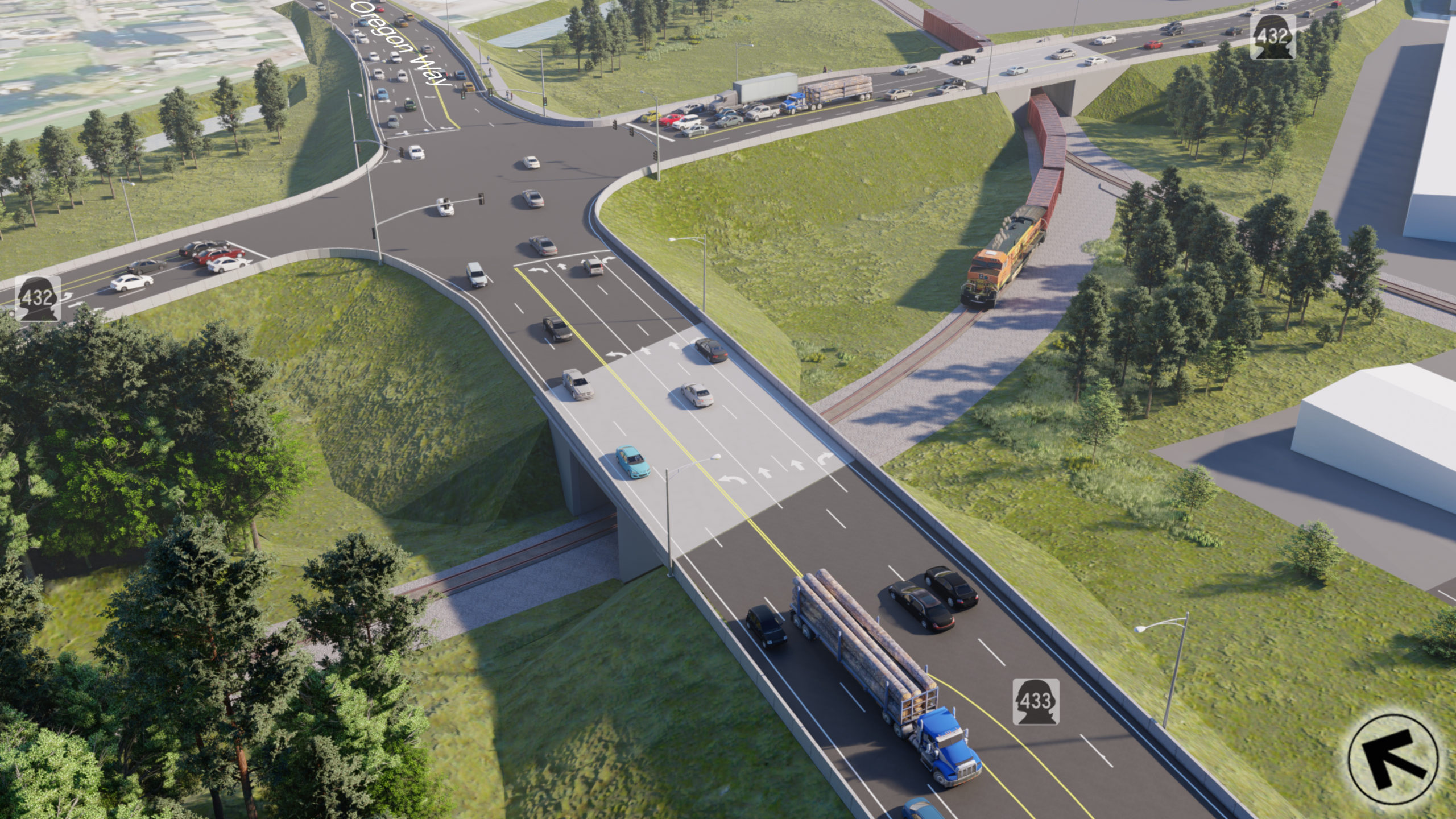 High-level rendering of updated project design, SR 433