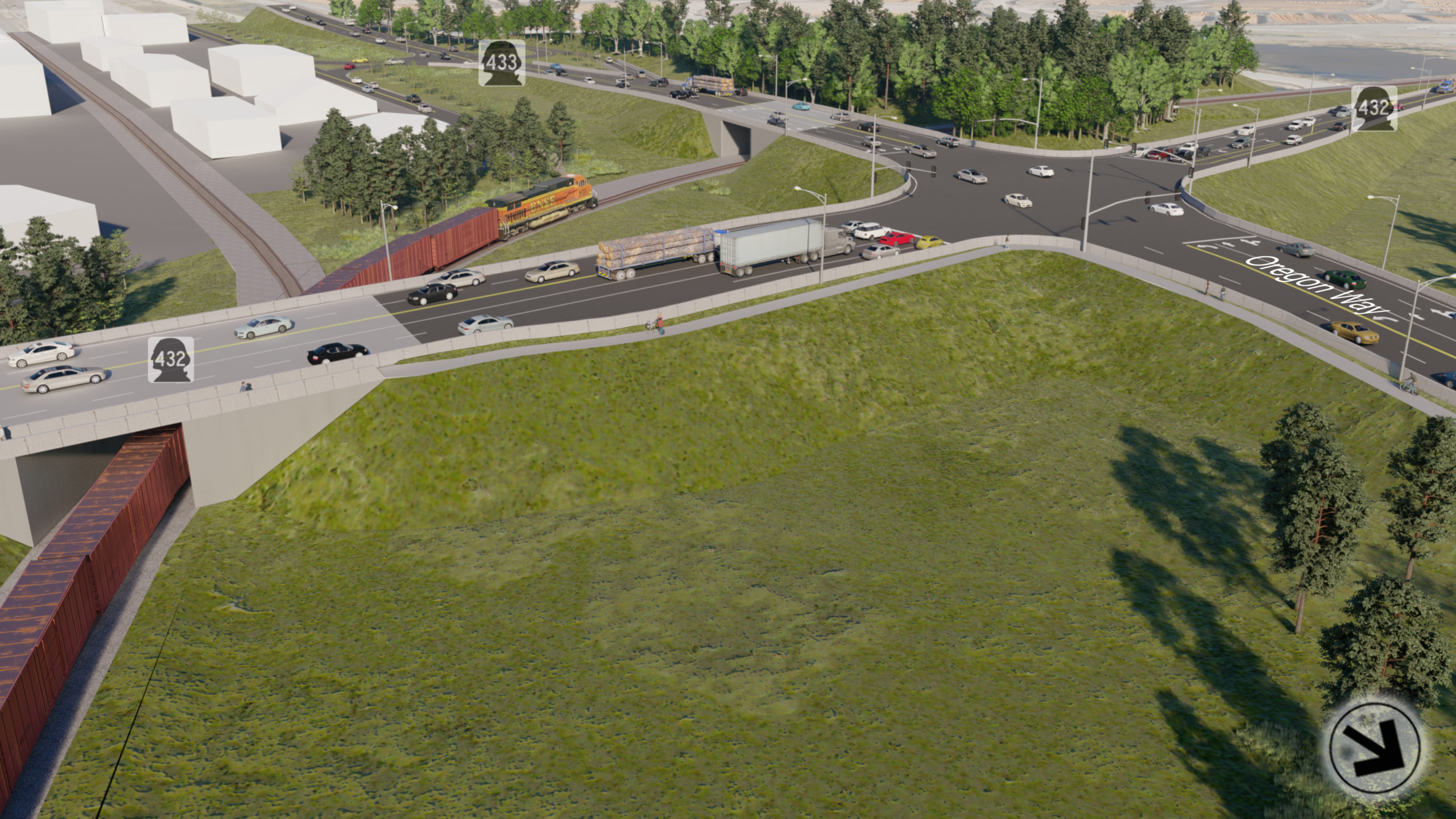 High-level rendering of updated project design, SR 432